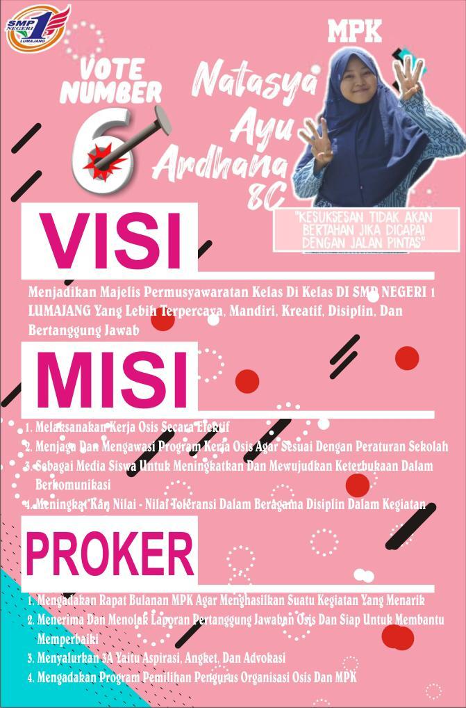 Mengintip Poster Keren Para Kandidat Ketua Osis Dan Ketua Mpk Smp N 1 Lumajang Pada Kampanye Ajang Pemilu Sekolah Smpn 1 Lumajang